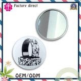 Novo design do logótipo do botão de folha de flandres espelho, Barato Loja Pocket Mirror