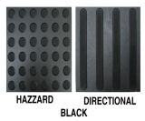 높은 내구성 PVC 장님을%s 고무 지면 도와