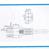 Cabo de potência da C.A. dos pinos de Italy 3 com aprovaçã0 de Imq (I3-10)