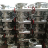 Valvola di pizzico materiale di alluminio manuale standard di api