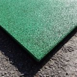 Telha de assoalho de borracha de bloqueio plástica recicl do tijolo para a passagem