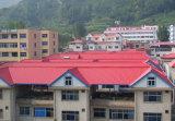 На крыше New-Type цветные мозаики и оцинкованный гофрированный стальной лист