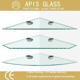 La Chine a givré les étagères en arrière peintes en verre Tempered avec le bord Polished plat