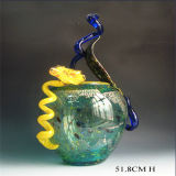 Decoration를 위한 다색 Art Murano Glass Craft Vase