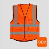 Veste com bolsos, veste do Vis do protetor de segurança do OEM olá! da segurança de construção