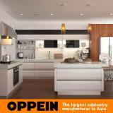 Gabinete de cocina modular moderno de madera de la laca del proyecto de Vietnam (OP15-L22)