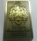 معدن حقيبة نقش بطاقة مع علامة تجاريّة