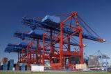 ISO genehmigte Typen des Link-vier Werft-Portal-Kran des Hafen-25t