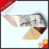 Het Geweven Etiket van de Douane van de Manier van de Fabrikant van Hangzhou Borduurwerk voor Kleding