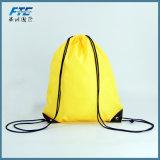 Promotion personnalisée 210d une salle de gym en nylon coulisse des sacs à dos Sac avec lacet de serrage