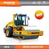 machinerie de construction Shantui Hot Sale 18tonnes hydraulique complet unique rouleau de vibration du tambour Road (SR18)