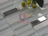 Mistura de aço inoxidável e vidro azulejos de parede de pedra (CFS715)