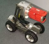 LCD 8インチののロボットクローラー、鍋または傾きのカメラが付いている排出腔の点検カメラ