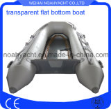 Casco inflable inferior claro del policarbonato del barco