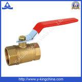 O preço de grosso cortou a válvula de esfera de bronze da água (YD-1007)
