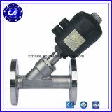 Flange de aço inoxidável do tipo Y ângulo válvula do Assento Pneumático