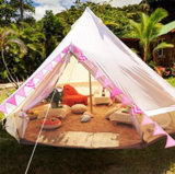 Grande tenda di Bell impermeabile di lusso della tela di canapa da vendere