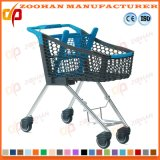 Тележка вагонетки покупкы супермаркета провода с местом младенца (Zht186)