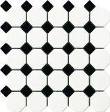 Modèle de conception populaire octogonal bleu et blanc carreaux de mosaïque de porcelaine dans la salle de bain / Cuisine