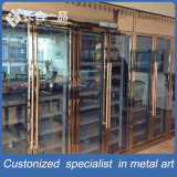 Customized Antique Antique Stainless Steel Wine Cellar Cabinet para restaurante / clube