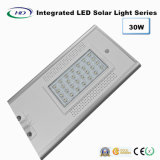 luz solar Integrated do jardim do diodo emissor de luz do sensor de 30W PIR