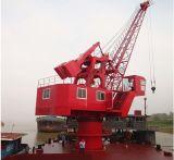 grue électrique hydraulique mobile ferroviaire de portail de port de 30t30m