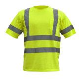 T-shirt 100% élevé r3fléchissant de visibilité de sûreté antistatique de qualité supérieur de coton