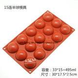 Прессформы шоколада силикона сферы прямоугольника качества еды Non-Stick, прессформы, прессформы торта