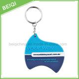 Fördernde Cheap3d/2D weiche Belüftung-Schlüsselkette mit kundenspezifischem Firmenzeichen