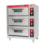3 dek 6 Machine van de Oven van het Baksel van Dienbladen de Elektrische met de Commerciële Apparatuur van de Catering