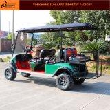 6 Seaterのセリウムの証明電気ハンチングゴルフカート(後部フリップシート)