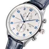 Relógios de quartzo de negócios de forma simples com esportes impermeável multifuncional tira de couro de negócio Veja todos os trabalho de discagem