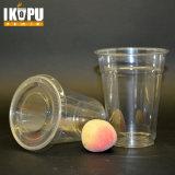 Copos descartáveis de PP / Pet Copo Transparente de plástico transparente com tampa