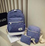Sac à dos réglé de mode de sac de Madame école de Canvans de constructeur de Guangzhou (XB1071)