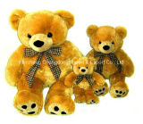 Peluche Bear de Standing Classical do luxuoso de 3 cores com Ribbon