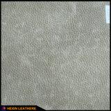 Poliestere del grano 2.0mm di Lychee che appoggia cuoio sintetico per mobilia Hx-F1707