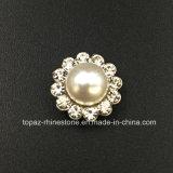 Rhinestone cristalino vendedor caliente de 14m m en la costura en la perla con el Rhinestone de la configuración de la garra (cristal redondo de la perla de TP-14mm)