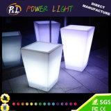 Potenciômetro do plástico do diodo emissor de luz da mobília do evento da decoração do banquete de casamento