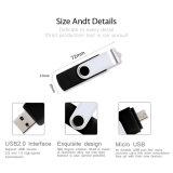 自由ロゴOTG USBのフラッシュ駆動機構の最上質のメモリ棒をカスタマイズしなさい