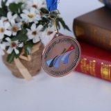 亜鉛リボンが付いている合金によってカスタマイズされる記念品賞のスポーツメダル