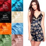 Shinny le tissu en soie de Charmuse de nature estampé par modèle de mode pour Sleepewear