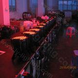 실내 LED PAR64를 점화하는 54X3w RGB DMX 단계