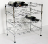 Multi-Level réglable Bouteille de vin en métal chromé Rack Support statif