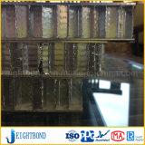 PVDFの貢献材料のための上塗を施してあるアルミニウム蜜蜂の巣のパネル