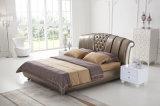 Het nieuwe Elegante Bed van het Leer van het Ontwerp Moderne Echte (HC1208) voor Slaapkamer