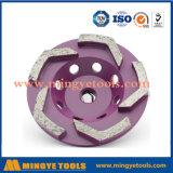 다이아몬드 구체/대리석/화강암 지면을%s 거친 컵 바퀴