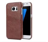 Couverture de cas de dos de cuir d'unité centrale de caisse de téléphone pour l'iPhone