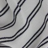 Klassisches gestreiftes Drucken-Polyester-Chiffon- Gewebe für Hemden