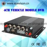 3G GPS/der 4-Channel Echtzeitaufnahme und Maximum 128g Echtzeith. 264 Unterstützungs-DVR Ableiter-bewegliches Auto-Audiokanalnummer-1d1 CIF 1000 GBs Festplattenlaufwerk