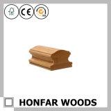 Barandilla de la escalera del roble rojo de madera sólida del material de construcción